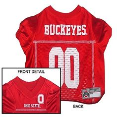 Pets First Collegiate Ohio State Buckeyes Dog Mesh Jersey Large -- For more information, visit image link.