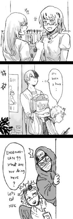 Shopping with the Todoroki family. Fuyumi and their mom, enjoying their time in shopping. Shouto and Natsu, waiting for them to be done. And their dad is stalking them with Hawk as an uninvited guest. // boku no hero academia // สิงโตทำงานตลอดไป  @singto_u