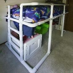 Free plans and pictures of PVC pipe projects. Greenhouses, electric (or pedal ) car, pvc go kart, bunk bed, fishing rod holder, swing, pvc chair, table, PVC pipe playhouse, bike rack plans, PVC furniture, awnings, cargo rack project, scaffold cover, berry cover, seed rack, bird/deer protection, Iguana cage/pen, PVC tent shelter, grow rack shelf, tile saw shield enclosure, pallet cover, PVC Playground equipment, model rocket launch pad project, shaded car port, LCD rear projector screen.