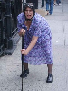 funny little old lady pictures | pulling off a convincing old lady costume is all about the attitude