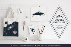 Double Exposure. 20 Creative Logos by Cosmic Store on @creativemarket
