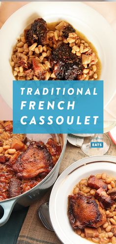 How to Make Traditional Cassoulet (And Why You Should Put Chicken in It!) - french girl - How to Make Traditional Cassoulet (And Why You Should Put Chicken in It!) How to Make Traditional Cassoulet (And Why You Should Put Chicken in It! Julia Childs, French Cassoulet Recipe, Chicken Cassoulet Recipe, Traditional French Recipes, French Dishes, French Desserts, Food Lab, Curry, Foodies