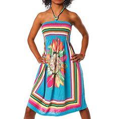 H112 Damen Sommer Aztec Bandeau Bunt Tuch Kleid Tuchkleid Strandkleid Neckholder, Farben:F-027 Türkis;Größen:Einheitsgröße Diva-Jeans http://www.amazon.de/dp/B00YSAZ5O4/ref=cm_sw_r_pi_dp_PRwLvb0XCAZAS