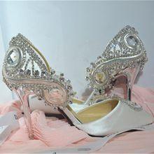 2015 nouveau belle main chaussures de mariage de luxe rétro Baroque bout pointu chaussures de mariée strass talons hauts sexy sandales(China (Mainland))