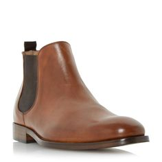 Roland Cartier Marlowes leather chelsea boots, Tan