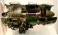 J85-GE-17A turbojet engine from General Electric (1970)