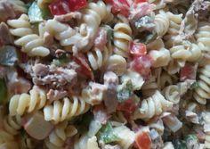 κύρια φωτογραφία συνταγής Μακαρονοσαλάτα με τόνο Vegetarian Recipes, Healthy Recipes, Pasta Salad, Easy Meals, Food And Drink, Cooking, Ethnic Recipes, Foods, Salads