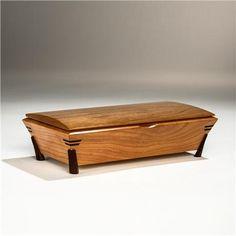 photos tea boxes   Mike Mikutowski-Wooden Tea Box with Legs - Cherry Body-TEA-08-CH-CH