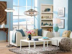 coastal contemporary living room decor