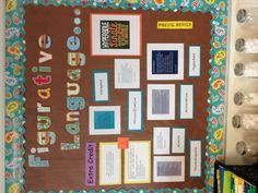 I put together this bulletin board today for poetry month!