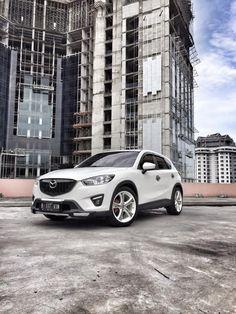 White Mazda CX-5 Simple Modification