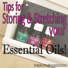 How to store and stretch essential oils to make them last longer.. LOVE this idea for storage of oils!