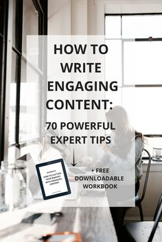 How do you write engaging content and capture your audience? Here's how: 70 experts share their best tips for writing engaging content. Click to learn their secrets (hint: I'm blown away by their tips)!