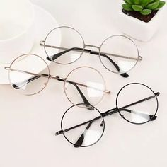 Quality RICHPER 6 Colors Man Woman Retro Large Round Glasses Transparent Metal Eyeglass Frame Black Silver Gold Spectacles Eyeglasses with free worldwide shipping on AliExpress Mobile Cute Sunglasses, Sunglasses Women, Round Sunglasses, Glasses Frames Trendy, Circle Glasses, Glasses Trends, Mode Lolita, Lunette Style, Fashion Eye Glasses