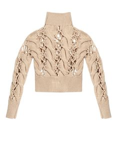 Chunky cable-knit sweater by MM6 by Maison Margiela | Shop now at #MATCHESFASHION.COM