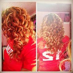 Blonde hair tight wand curls black women