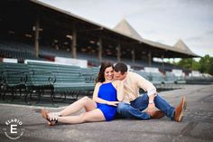 Saratoga Race Course Engagement Photos | Marissa & John