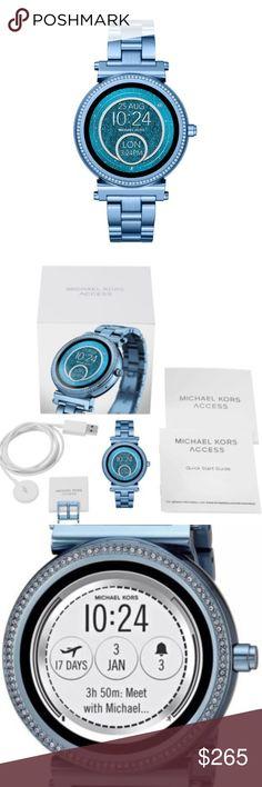 2123384cb791 Michael Kors Sofie Blue Touchscreen MKT5042 Watch MKT5042 100% Authentic Michael  Kors Bright Blue Stainless