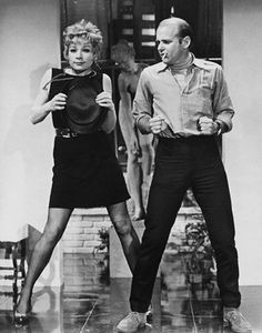 Shirley MacLaine & Bob Fosse rehearsing, Sweet Charity (1969).  Wow, Fosse! Great dancer and actress!
