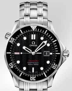 Omega Seamaster. Looks great going casual or on a night on the town.