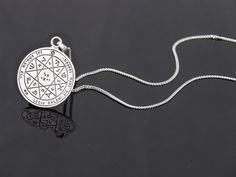 Sterling silver pendant necklace Solomon seals for by Bluenoemi, $89.00