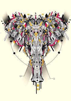 Hi-Tech Animal Illustrations