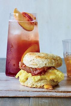 These next-level breakfast sandwiches get their perfect salty-sweet balance from the addition of peach jam. If you don't have ripe peaches, try the recipe with plums or apricots. #breakfastrecipes #brunchrecipes #breakfastideas #brunchideas
