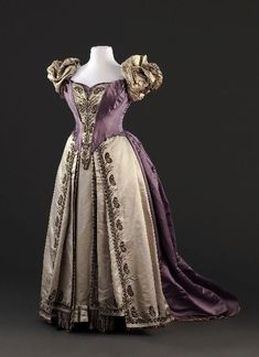 Worth dress with two bodices, 1885-90