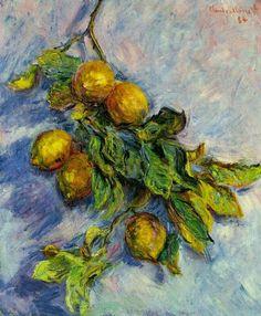 Claude Monet - Branch of Lemons, 1884