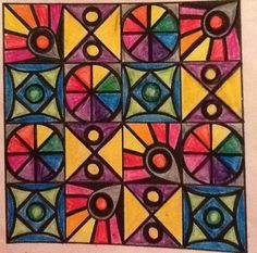 Quilt Group Project For groups of four--each student creates 4 copies of one cell Art Auction Projects, Group Art Projects, Collaborative Art Projects, Classroom Art Projects, School Art Projects, Art Classroom Management, Project Abstract, Mural Art, Murals