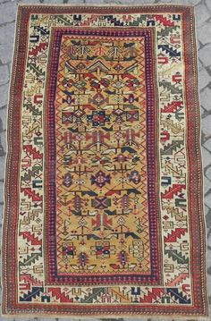 Caucasian Shirvan Rug , 3.1x4.11 ft (94x150 cm), mid 19th century