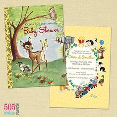 Golden Books Baby Shower Invite