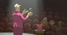 Many pictures of The Illusionist (animated film based upon a Jacques Tati script) here: http://www.lassothemovies.com/the-illusionist-2010/