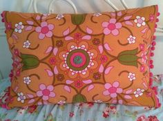 Cushion made by me from a tea towel Apothecary, Tea Towels, 1970s, Upcycle, Cushions, Paper Crafts, Fancy, Throw Pillows, Crafty