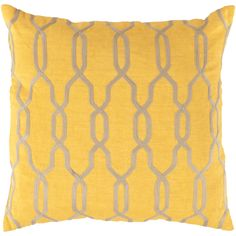 Bright yellow pillow from Surya