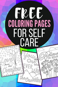 Free Self Care Coloring Pages – Mandy's DIY Care YEAH! Free adult coloring pages for self care. These can be used for mindfulness and anti stress therapy. I love the way art helps my mental health. Why not grab your free printable now! Mental Health Activities, Art Therapy Activities, Self Care Activities, Health Education, Counseling Activities, Therapy Worksheets, Work Activities, Therapy Ideas, Free Adult Coloring Pages