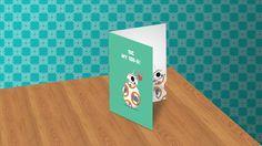 Star Wars Valentine's Card (BB-8) by iakwvina on Creative Market