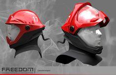 Freedom: Firefighter helmet on Behance