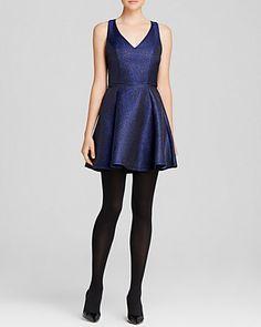 AQUA Dress - Metallic Brocade   Bloomingdale's