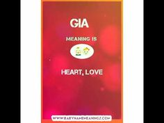 Gia Name Meaning