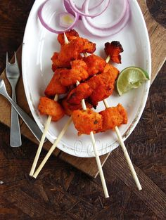 Murgh Tikka- Indian Spiced Skewered Chicken
