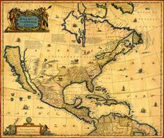 Items similar to Vintage Map - North America 1647 on Etsy