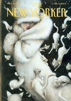 New Yorker Cover: Cats