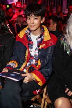 #CHANYEOL at #TOMMYNOW London Fashion Week 2017