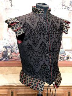 Men's Black Cavalier Renaissance Elizabethan Doublet available in chest sizes 30-52. $299.00, via Etsy.
