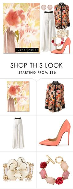 """Floral Entry"" by trishpassers ❤ liked on Polyvore featuring Trademark Fine Art, Givenchy, Racil, Christian Louboutin, Chanel, Oscar de la Renta, Monica Vinader, classy, floralprint and trousers"