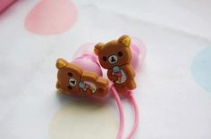 Cute Rilakkuma earbud headphones