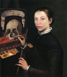 Marie-Noëlle Pécarrère   D'après l'auto portrait de Sofonisba Anguissola (1535 - 1625),