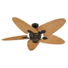 Rattan Ceiling Fans: Some British Colonial flair