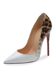 So Kate Degrade Red Sole Pump, Latte/Leopard by Christian Louboutin at Neiman Marcus. J Shoes, Me Too Shoes, Leopard Pumps, Christian Louboutin So Kate, Killer Heels, Clearance Shoes, Patent Leather Pumps, Fashion Shoes, Red Sole